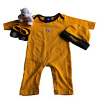 Pittsburgh Steelers Newborn Coverall, Hat, Booties & Teddy Bear Set by Outerstuff
