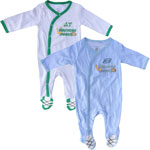 Saskatchewan Roughriders Newborn Football's Best 2-Piece Long Sleeve Coverall Set by Outerstuff