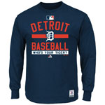 Detroit Tigers Authentic Collection Team Property Long Sleeve T-Shirt by Majestic