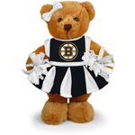 Boston Bruins 8'' Plush Cheerleader Bear by Plushland