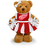 Detroit Red Wings 8'' Plush Cheerleader Bear by Plushland