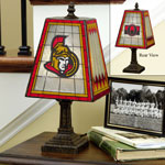 Ottawa Senators Art Glass Table Lamp by The Memory Company