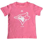 Toronto Blue Jays Girls Infant Pink Team Logo T-Shirt by Majestic
