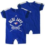 Toronto Blue Jays Newborn Classic Stripe Romper by Majestic