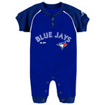 Toronto Blue Jays Newborn Game Time Coverall by Majestic