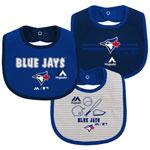 Toronto Blue Jays Newborn Fair Catch 3-Pack Bib Set by Majestic