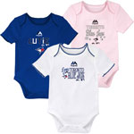 Toronto Blue Jays Newborn Girls 3rd Inning 3-Piece Creeper Set by Majestic