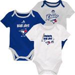 Toronto Blue Jays Newborn 9th Inning 3-Piece Creeper Set by Majestic