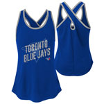 Toronto Blue Jays Youth Girls Clutch Cross Back Tank Top by Outerstuff