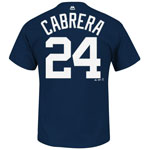 Detroit Tigers Miguel Cabrera Youth Player Name and Number T-Shirt by Majestic