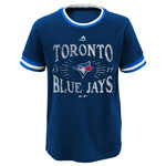 Toronto Blue Jays Youth Round The Bases Ringer Tee by Majestic