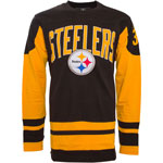 Pittsburgh Steelers Men's Dufferin Long Sleeve T-Shirt by Old Time
