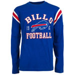 Buffalo Bills Men's Lateral Long Sleeve T-Shirt by Old Time