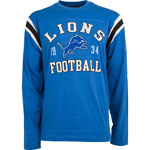Detroit Lions Men's Lateral Long Sleeve T-Shirt by Old Time