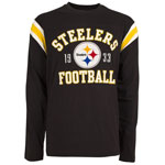 Pittsburgh Steelers Men's Lateral Long Sleeve T-Shirt by Old Time