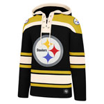 Pittsburgh Steelers Lacer Pullover Fleece Hoodie by '47