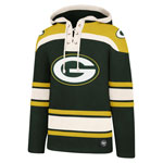 Green Bay Packers Lacer Pullover Fleece Hoodie by '47