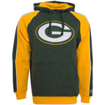 Green Bay Packers Merciless Pullover Fleece Hoodie by Old Time