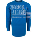 Detroit Lions Men's Bandit Long Sleeve T-Shirt by Old Time