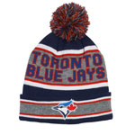 Toronto Blue Jays Cuffed Knit Hat with Pom by Gertex