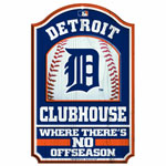 Detroit Tigers Clubhouse Wood Sign by Wincraft