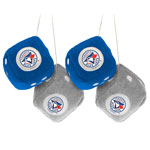 Toronto Blue Jays Fuzzy Dice by Sports Vault (2-Pack)