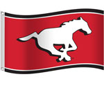 Calgary Stampeders 3'x5' Flag by Sports Vault