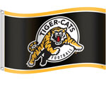 Hamilton Tiger-Cats 3'x5' Flag by Sports Vault