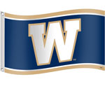 Winnipeg Blue Bombers 3'x5' Flag by Sports Vault