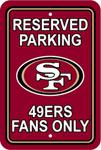 Fremont Die San Francisco 49ers Plastic Reserved Parking Sign