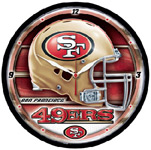Wincraft San Francisco 49ers Round Wall Clock