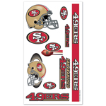 Wincraft San Francisco 49ers Temporary Tattoos