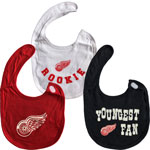 Detroit Red Wings Newborn 3-Pack Bib Set by Reebok