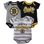 Boston Bruins Newborn Regular Season 3-Piece Creeper Set by Reebok