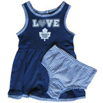 Toronto Maple Leafs Toddler Girls Dress and Bloomers Set by Outersuff