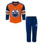 Edmonton Oilers Infant MVP Long Sleeve T-Shirt & Pant Set by Reebok