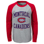 Montreal Canadiens Toddler Long Sleeve Raglan T-Shirt by Reebok
