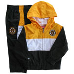 Boston Bruins Toddler 2-Piece Team Hooded Windsuit by Reebok