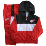Detroit Red Wings Child 2-Piece Team Hooded Windsuit by Reebok