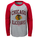 Chicago Blackhawks Preschool Long Sleeve Raglan T-Shirt by Reebok
