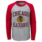 Chicago Blackhawks Preschool Long Sleeve Raglan T-Shirt by Reebok