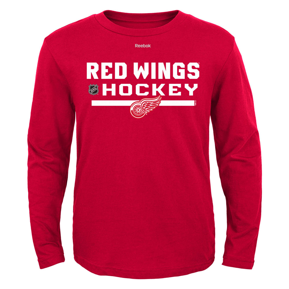 premium selection 36cf8 09620 Detroit Red Wings Youth Center Ice Locker Room Long Sleeve T-Shirt by Reebok