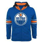 Edmonton Oilers Youth Goalie Full-Zip Fleece Hoodie by Reebok