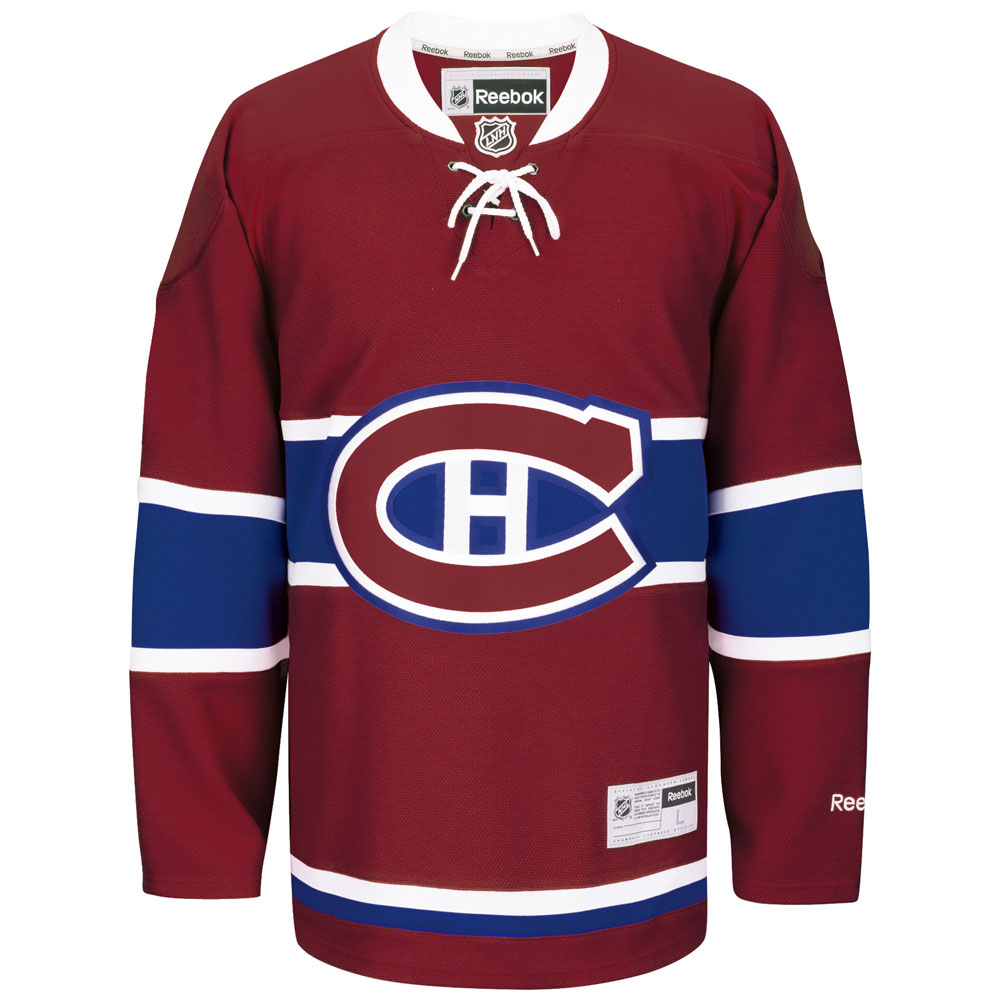 Reebok Montreal Canadiens Premier Replica Home NHL Hockey Jersey