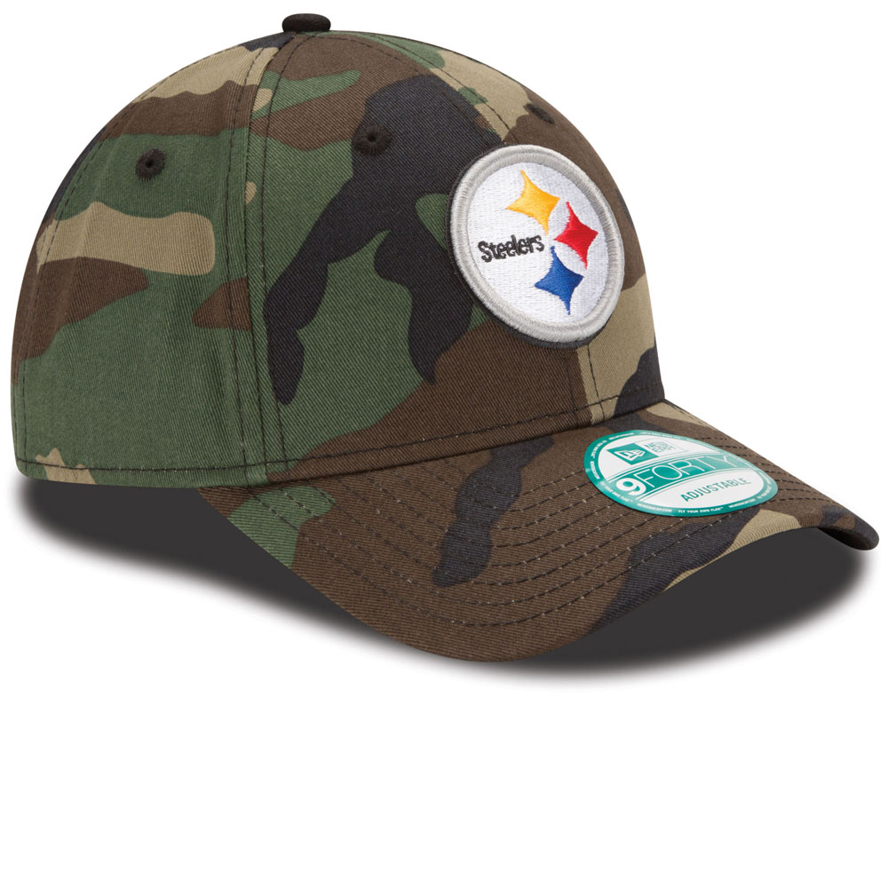 finest selection 18882 f93dc ... Pittsburgh Steelers Basic Camouflage 9FORTY Adjustable Hat by New Era  ...