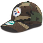 Pittsburgh Steelers Basic Camouflage 9FORTY Adjustable Hat by New Era