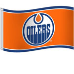 Edmonton Oilers 3'x5' Flag by Sports Vault