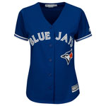 Toronto Blue Jays Women's Cool Base Replica Alternate Jersey by Majestic