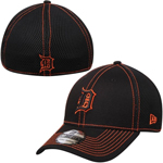 Detroit Tigers Black Team Neo 39THIRTY Stretch Fit Hat by New Era