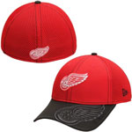 Detroit Red Wings Logo Crop Neo 39THIRTY Stretch Fit Hat by New Era